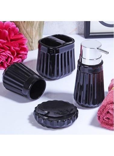 Kosova Ksv Stonware 4 Lü Banyo Seti Takımı - Sıvı Sabunluk Seti Msb-062 Renkli